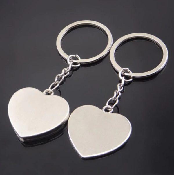Сет од два привезоци - срце+срце